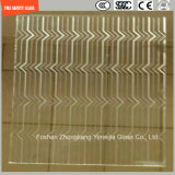 l'impression de Silkscreen de 3-19mm/gravure à l'eau forte acide/se sont givrés/plat de configuration/ont déplié Tempered/verre trempé pour la porte/porte de guichet/douche avec le certificat de SGCC/Ce&CCC&ISO