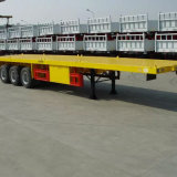 reboque da plataforma do branco de 3axle 40FT