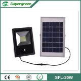 Ce com projector recarregável solar solar do diodo emissor de luz da placa 20W