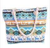 O saco colorido da praia da forma nacional nova do saco de ombro da lona da grande capacidade do vento das bolsas