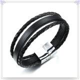 De Armband van het Leer van de Juwelen van het Roestvrij staal van de Juwelen van de manier (LB470)