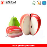 재미있은 Die Cut Promotional Fancy Fruit 3D Memo Pad