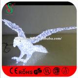 독수리 조각품 크리스마스 3D 주제 빛