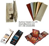 Aluminiumfolie-Zinn-Gleichheit-flaches Block-Unterseiten-Seiten-Stützblech-verpackenkaffee-Beutel mit Ventil