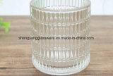 Candelero cristalino del arte de cristal/taza de cristal para la decoración de la boda