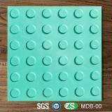 Rubber Blind táctil pavimentación ladrillos azulejos para persona ciega
