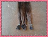 A queratina da extensão do cabelo de Remy Eu-Derruba a cor 18inch 8 reta de seda do cabelo