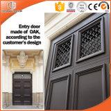 Porta de madeira interior dianteira principal indiana, porta de madeira de madeira interior da porta e do carvalho/Teak e projeto de Windows