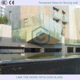 Barandilla de cristal sin marco / de vidrio Barandilla de balcón / cercado de la piscina