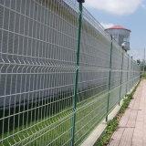 Frontière de sécurité enduite de treillis métallique de PVC