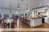 Moderne Strand-Art-Küche mit grossen hölzernen Spitzeninsel-Schränken (WH-D298)