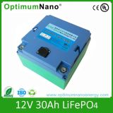 Rechargeble 12V 30Ah Batería de litio para luz LED