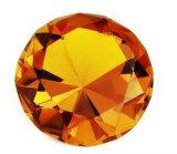 Kleines Kristallglas-preiswertes Diamant-Papiergewicht für Fertigkeit