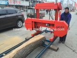 A madeira portátil da serração horizontal da faixa viu a maquinaria de madeira da serração