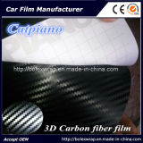 film de vinyle de fibre du carbone 3D - avec de l'air libérer les bulles
