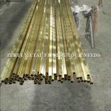 """3/8 tubo de cobre amarillo Shaped cuadrado difícilmente drenado C26000 de X1mm """" X3/8 """""""