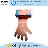 長い袖の使い捨て可能なPEの屠殺の手袋