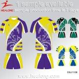 Camisa nova do rugby do Sublimation do fósforo da equipe da roupa do projeto de Healong