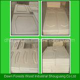 A grão de madeira colore o gabinete de cozinha da película do PVC e a porta do Wardrobe