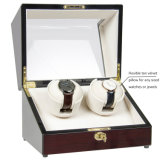 New Ebony Wood Veneer High Gloss Lacquer LCD Madeira Automatic Watch Winder