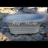 Wit Marmeren Bad voor Decoratie mbm-1085 van het Huis