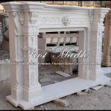 Camino di marmo bianco di Carrara per la decorazione Mfp-475