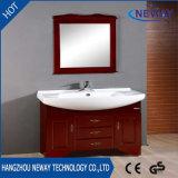 高品質の床のミラーが付いている永続的な木製の浴室用キャビネット
