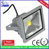 알루미늄 AC85-265V는 주물 30W LED 정원 투광램프를 정지한다