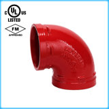 Duktiles Iron Grooved Pipe Fitting 90 Elbow mit FM/UL Approved