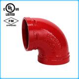 Coude Grooved de l'ajustage de précision de pipe de fer malléable 90 avec FM/UL reconnu