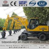 Baoding-Aufbau-Maschinerie-kleine Rad-Exkavatoren mit Weichai Motor