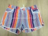 Oeko-Tex Board Short Swimwear 편평한 허리 폴리에스테 줄무늬 숙녀