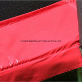 trampolino rosso rotondo di 15FT con 6 piedini ed allegati di sicurezza dal portello
