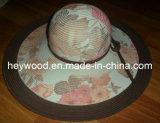 chapeau de femmes de tresse de papier d'imprimerie