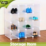 居間の現代プラスチック靴のオルガナイザーの表示収納キャビネット