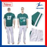 Healongの卸し売り完全な昇華メンズ野球のジャージーのスーツ