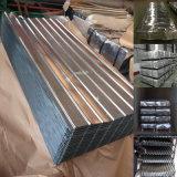 Hoja acanalada Caliente-Sumergida del material para techos del metal de Galvanzied