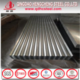Tôle d'acier ondulée galvanisée par A653m de toiture d'ASTM