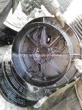 Couvertures de trou d'homme nodulaires vérouillables de fer de bâti En124 D400 E600 F900