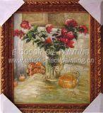 Fleurir la peinture à l'huile de peinture à l'huile et avec la vue