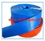 Mangueira azul da descarga do PVC Layflat para a irrigação (LF10)