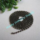 3.2mmの金属のビードのGunmetalのネックレスの球の鎖