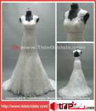 Robe de mariage populaire de robe nuptiale de trou de la serrure de lacet de la sirène 2014 (AS2662)