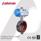 Válvula de borboleta pneumática do produto comestível