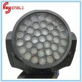 크리 사람 램프 LED 이동하는 맨 위 세척 빛을%s 가진 37PCS RGBW