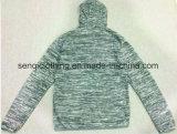 Personalizar o homem Hooy do logotipo com capa e Zipper na roupa Fw-8670 dos casacos de lã do homem