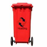 [120ل] بلاستيكيّة [ترش بين] مطّاطة عجلة نفاية علبة لأنّ [هد2وّب120ك-ر] خارجيّة