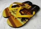 De pantoffel met Gele en Oranje PVC+PE