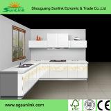 PVCメラミン台所のための紫外線食器棚のドア