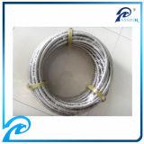 Aço inoxidável de boa qualidade 304 mangueiras hidráulicas cobertas trançadas de PTFE